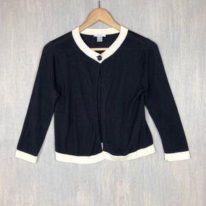 Max Mara Pure Seta silk cropped cardigan S black